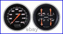 Classic instruments 51-52 chevy car gauges ch51vsb52 speedo with quad set