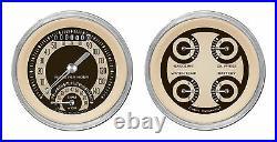 Classic instruments nostalgia vt series 2 gauge set nt32shc speedo tach