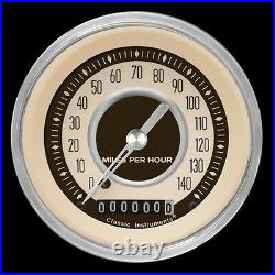 Classic instruments nostalgia vt series 3 gauge set nt04shc speedo duals