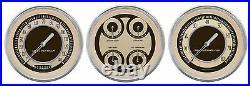Classic instruments nostalgia vt series 3 gauge set nt53slc speedo tach quad
