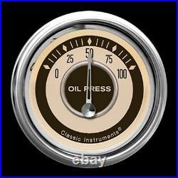 Classic instruments nostalgia vt series 5 gauge set nt35shc speedo tach fuel oil