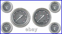 Classic instruments sg series 4 5/8 speedo tach sg51slf 6 gauge set flat glass