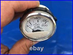 Faria Set of 8 Boat Marine Gauges Speedo Tachometer Amp Trim Oil Temp Fuel NICE