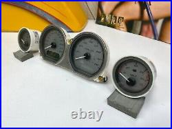Genuine Harley 14-20 Touring Speedo Tachometer Fuel Gauge Cluster Set Silver