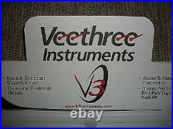 Gps Deluxe 6 Gauge Set White Sterling Veethree Instruments Speedo, Tach 69655