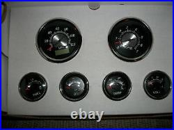 Gps Gauge Set Black Sterling 6 Gauge Veethree Instruments Speedo, Tach 69652