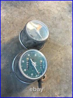 HONDA 72 CB350 CB 350 GAUGES CLUSTER SPEEDO TACHOMETER OEM Gauge Clock Set Dash