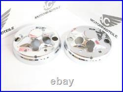 Honda CB 500 Four K2 T chrome cover plate set lower speedometer tachometer gauge