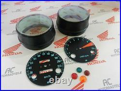Honda CB 750 Four K0 Gauge Covers Face Plates Pilot Lamps Speedometer Tacho KMH