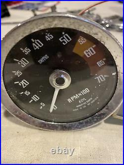 MG Midget Original SMITHS Gauge Set. Speedo, Tach, Fuel, Temp. Oil