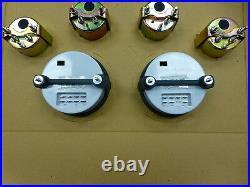 Marshall 6 Gauge Set Comp 2 LED Electric Speedo White Dial SS Bezel Sport Comp
