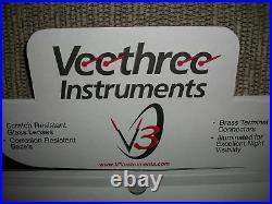 Mechanical Gauge Set Classic White 6 Gauge Veethree Instruments Speedo And Tach