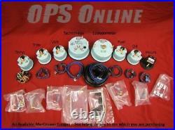 Mercury Analog Gauge Set White 8K Tachometer & Speedo 895283A26 & 895285A24