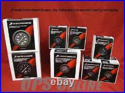 Mercury Outboard Analog Gauge Set Blk Speedo, 6K Tach, temp, withp, fuel, trim