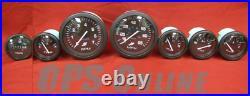 Mercury Outboard Analog Gauge Set Blk- Speedo, 7K Tach, trim, temp, volt, fuel, hour