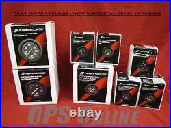 Mercury Outboard Analog Gauge Set Blk- Speedo, 7K Tach, trim, temp, withp, volt, fuel