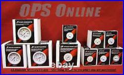 Mercury Outboard Analog Gauge Set -Wht- Speedo, 7K Tachometer, trim, temp, withp, volt