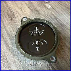 NOS Stewart Warner Fuel Amps Duplex Instrument Gauge Panel Dash Hotrod SCTA TROG