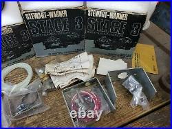 NOS Stewart Warner Stage III 160MPH Speedo 7K Tach Fuel Temp Oil Gauges Set of 5