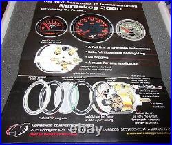 Nordskog 2000 Gauge Set in Box Speedo Rpm Fuel Water Temp Oil Pressure Volts