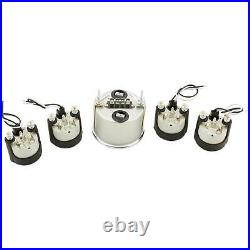 Omega Kustom 5-Gauge Set, 3-3/8 Speedo/Tach Combo, Kool White