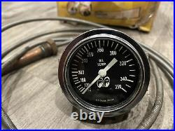 Original 1950 MOON EQUIP Oil Temp Instrument Gauge Panel Dash Hotrod SCTA TROG