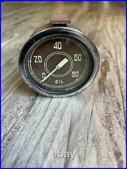 Original Stewart Warner 80 PSI Oil Instrument Gauge Diamond T Dash Hotrod SCTA