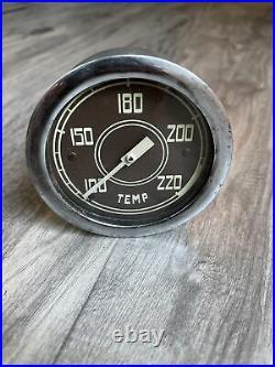 Original Stewart Warner Water Temp Instrument Gauge Diamond T Dash Hotrod SCTA