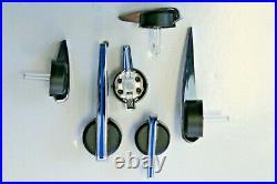 Premium Escalade Speedo Cluster Pointers Set 2003-2013 GM Black Chrome Blue New