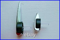 Premium Escalade Speedo Cluster Pointers Set 2003-2013 GM Black Chrome White New