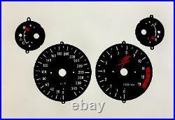 SUZUKI GSX1300R Hayabusa 99 01 SCALE SET speedo RPM temp Fuel gauge-instrument