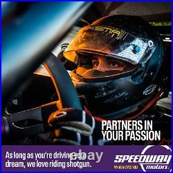Speedway Black 6 Gauge Set Kit with Speedo, Tach, Fuel, Temp, Volt, Oil Pressue