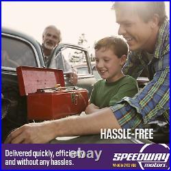Speedway Complete Black 5 Gauge Set with Speedo, Volt, Fuel Temp & Oil Pressure