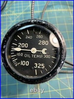 Stewart Warner Oil Temp Gauge Curved Dome Glass 2-19/32 WORKS Rat Hot Rod Trog
