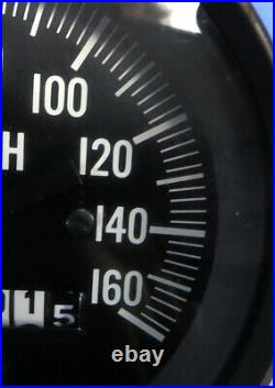 Vintage 1960's Stewart Warner Gauge Speedometer 3-3/8 160mph EC Untested