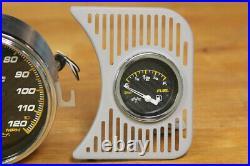 Vw Type1 Bug Gauge Set 120mph Speedo Fuel Gauge Oil Temp & Pressure Carbon Race